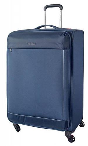 Прочный вместительный чемодан-гигант 115/130 л. на 4-х колесах Roncato Connection 4161/23 темно-синий