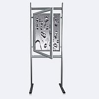 Доска-витрина с замком на ножках, А1