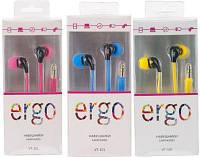 Наушники вакуумные ERGO VT-901 все цвета в ассортименте, наушники для телефонов, смартфонов