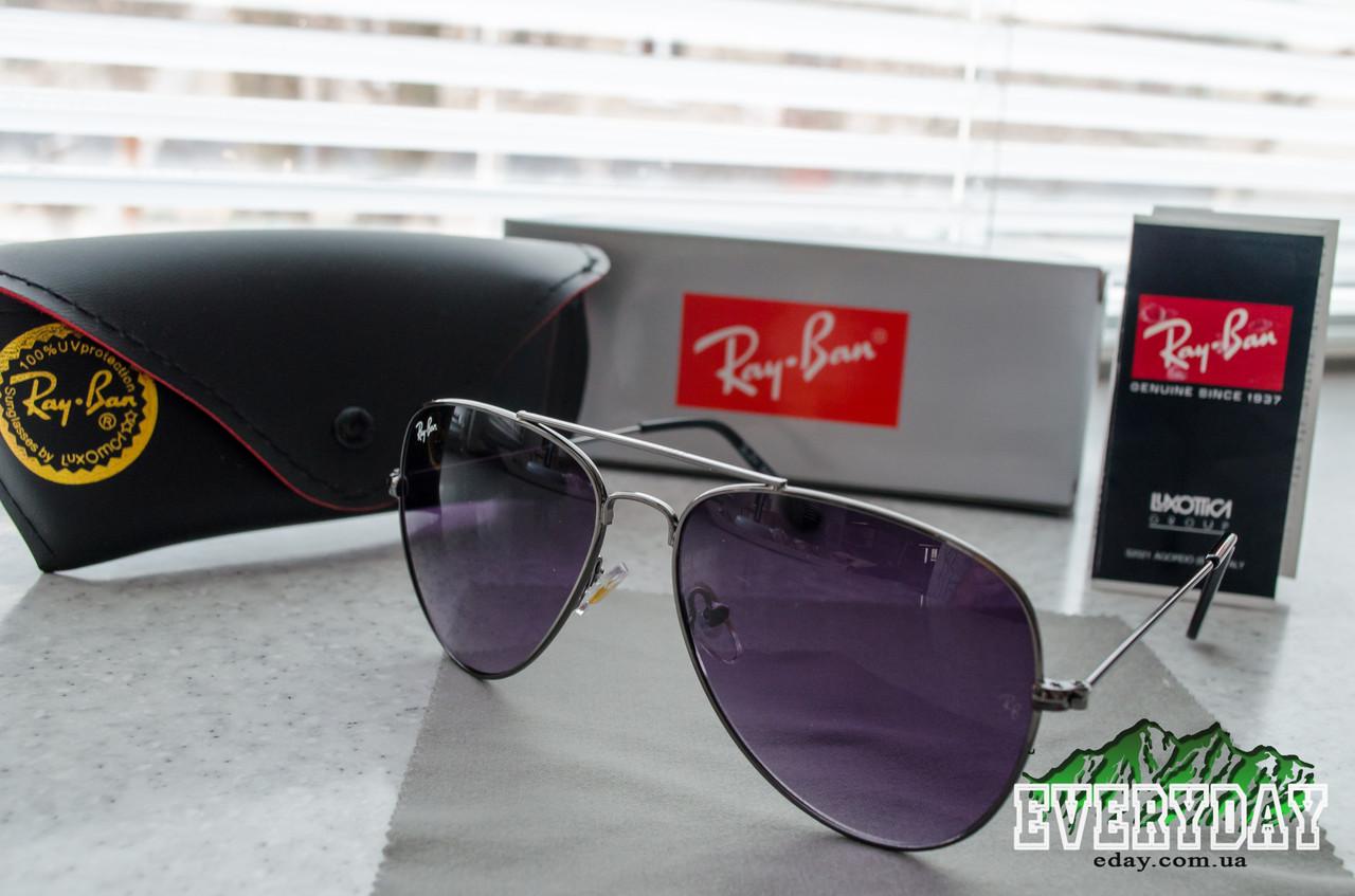 Солнцезащитные очки Ray-Ban Aviator (Поликарбонат) + Фирменный комплект! -  Интернет- bc00f180e79