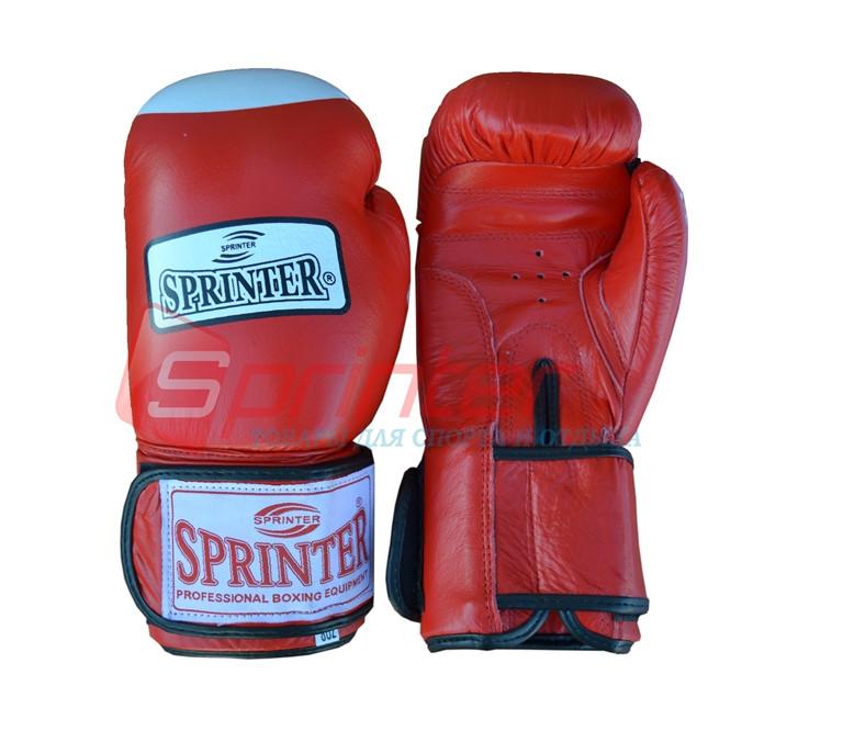 Перчатки боксерские«TIGER-STAR» Кожа. Красные, 12 унций.