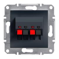 Розетка Schneider-Electric Asfora Plus аудио двойная антрацит. EPH5700171