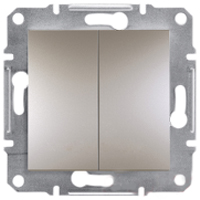 Вимикач Schneider-Electric Asfora Plus 2-клавішний бронза. EPH0300169