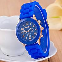 Женские наручные силиконовые часы Geneva blue