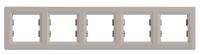 Рамка Schneider-Electric Asfora Plus 5-постова горизонтальна бронза. EPH5800569