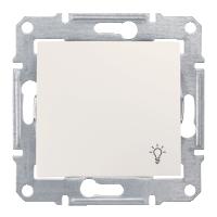 """Вимикач Schneider-Electric Sedna Кнопка """"світло"""" IP44 слонова кістка. SDN0900323"""