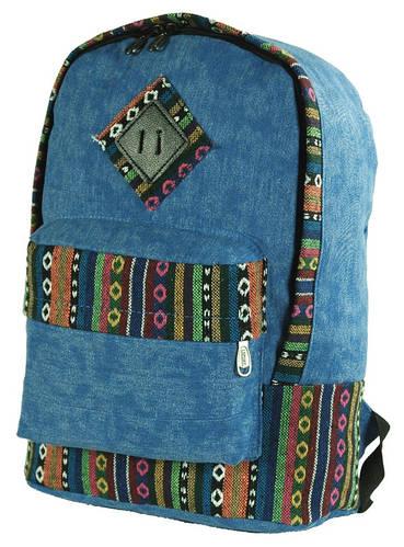 Городской холщовый рюкзак с этнической отделкой 14 л. Traum 7022-01