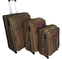 Чемодан Suitcase на двух колесах бежеый маленький