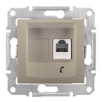 Розетка Schneider-Electric Sedna Телефонная RJ11 титан. SDN4101168
