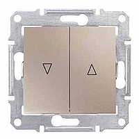 Выключатель Schneider-Electric Sedna д/жалюзи эл.блок титан. SDN1300168
