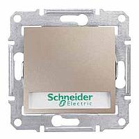 Выключатель Schneider-Electric Sedna кнопка с инд. и надписью титан. SDN1600368