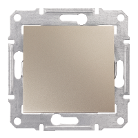 Переключатель Schneider-Electric Sedna 1-клавишный 16А проходной титан. SDN0400468