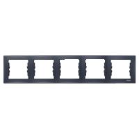 Рамка Schneider-Electric Sedna 5-постова горизонтальна графіт. SDN5800970