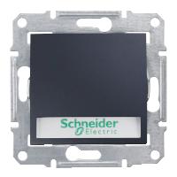Выключатель Schneider-Electric Sedna кнопка с инд. и надписью графит. SDN1600370