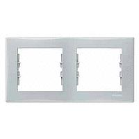 Рамка Schneider-Electric Sedna 2-поста горизонтальная серая SDN5800333