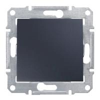 Выключатель Schneider-Electric Sedna 1-клавишный 2П 10А графит. SDN0200170