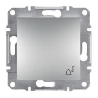 """Выключатель Schneider-Electric Asfora Кнопка Plus """"звонок"""" алюминий. EPH0800161"""
