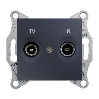 Розетка Schneider-Electric Sedna TV/R розетка концевая (1дб) графит. SDN3301670
