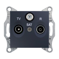 Розетка Schneider-Electric Sedna TV/R/SAT прохідна (8дб) графіт. SDN3501270