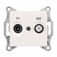 Розетка Schneider-Electric Sedna TV/SAT проходная (4дб) слоновая кость. SDN3401923
