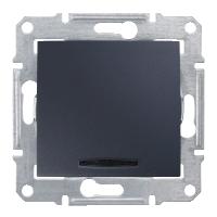 Переключатель Schneider-Electric Sedna 1-клавишный с инд. проходной 16А графит. SDN1500270