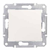 Выключатель Schneider-Electric Sedna 1-клавишный 2П 16А кремовый. SDN0200223