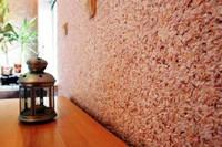 Декор стен флоком