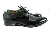Классические мужские туфли на шнурках черные