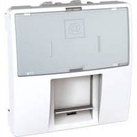 Розетка Schneider-Electric Unica комп'ютерна 2-модуля RJ45 кат.5e UTP білий. MGU3.411.18