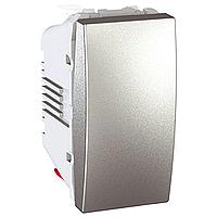 Вимикач Schneider-Electric Unica 1-клавішний алюміній MGU3.101.30