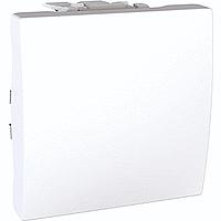 Перемикач Schneider-Electric Unica 1-клавішний прохідний білий. MGU3.203.18