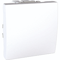 Переключатель Schneider-Electric Unica 1-клавишный проходной белый. MGU3.203.18