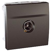 Розетка Schneider-Electric Unica TV одинарна графіт. MGU3.462.12