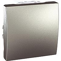 Вимикач Schneider-Electric Unica 1-клавішний алюміній MGU3.201.30