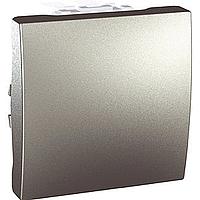 Переключатель Schneider-Electric Unica 1-клавишный проходной алюминий. MGU3.203.30