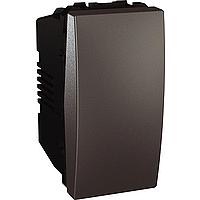 Перемикач Schneider-Electric Unica 1-клавішний прохідний графіт. MGU3.163.12