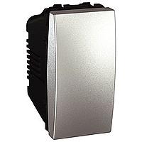 Перемикач Schneider-Electric Unica 1-клавішний прохідний алюміній. MGU3.163.30