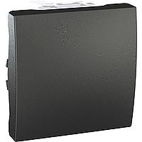 Перемикач Schneider-Electric Unica 1-клавішний прохідний графіт. MGU3.203.12