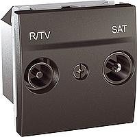 Розетка Schneider-Electric Unica TV/R/SAT концевая графит. MGU3.455.12