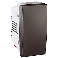 Выключатель Schneider-Electric Unica кнопка графит MGU3.106.12