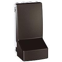 Адаптер Schneider-Electric Unica для кабеля 1-модуль графит. MGU3.860.12