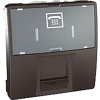 Розетка Schneider-Electric Unica телефонная 6 конт. RJ12 графит. MGU3.493.12