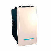 Перемикач Schneider-Electric Unica 1 - клавішний прохід. 16А з інд. слонова кістка. MGU3.163.N 25