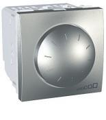 Диммер Schneider-Electric Unica поворотно-нажимной 40-1000 Вт алюминий. MGU5.512.30