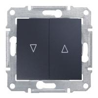 Выключатель Schneider-Electric Sedna д/жалюзи мех.блок графит. SDN1300370