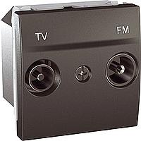Розетка Schneider-Electric Unica TV-FM проходная графит. MGU3.453.12
