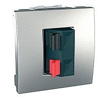 Розетка Schneider-Electric Unica аудио алюминий. MGU3.486.30