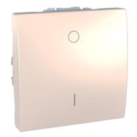 Выключатель Schneider-Electric Unica 1-клавишный 2-полюсный слоновая кость. MGU3.262.25