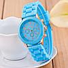 Женские наручные силиконовые часы Geneva light blue, фото 2
