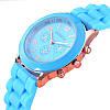Женские наручные силиконовые часы Geneva light blue, фото 3
